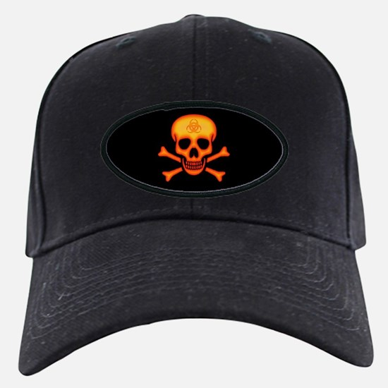 Orange Biohazard Skull Baseball Hat