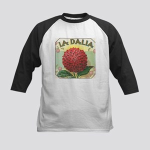 Red Dahlia antique label Kids Baseball Jersey