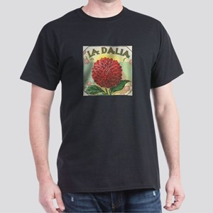 Red Dahlia antique label Dark T-Shirt