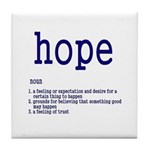 hope Tile Coaster
