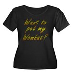 Wombat Women's Plus Size Scoop Neck Dark T-Shirt