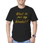 Wombat Men's Fitted T-Shirt (dark)