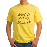 Wombat Yellow T-Shirt