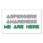 Asperger Awareness Stickers (10 pk)