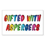 Gifted with Aspergers Stickers (10 pk)