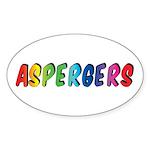 Aspergers Stickers (Oval 10 pk)