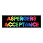 Aspergers Acceptance Bumper Stickers (10 pk)
