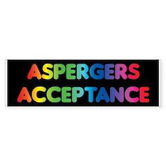 Aspergers Acceptance Bumper Bumper Sticker