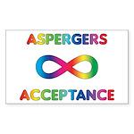 Aspergers Acceptance Sticker