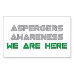 Asperger Awareness Sticker
