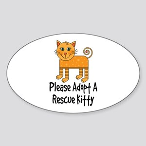 Adopt A Rescue Kitty Sticker (Oval 10 pk)