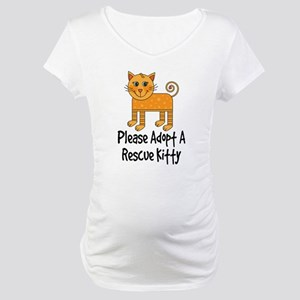 Adopt A Rescue Kitty Maternity T-Shirt