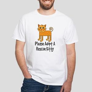 Adopt A Rescue Kitty White T-Shirt