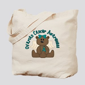 Ovarian Cancer Bear Tote Bag
