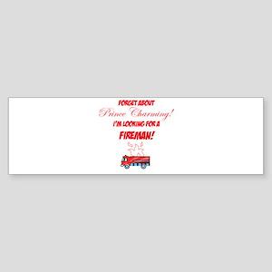 Looking for a fireman! Sticker (Bumper)