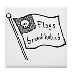 Flags Breed Hatred Tile Coaster
