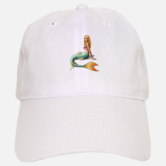 Mermaid with orange fin Baseball Baseball Cap