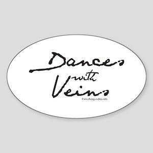 Dances with Veins Sticker (Oval)