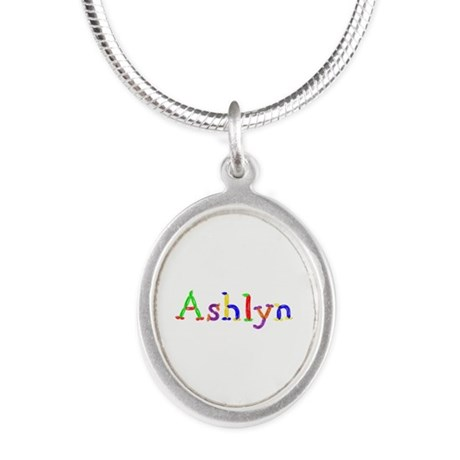 Ashlyn Balloons Silver Oval Necklace