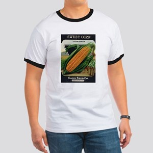 Yellow Corn antique seed pack Ringer T