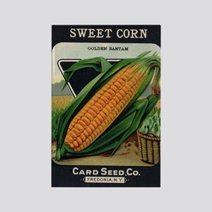Yellow Corn antique seed pack Rectangle Magnet