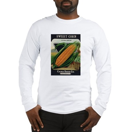 Yellow Corn antique seed pack Long Sleeve T-Shirt