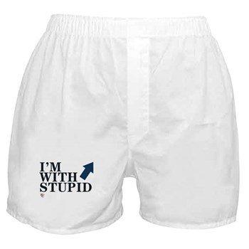 """eSarcasm """"I'm With Stupid"""" Boxers"""