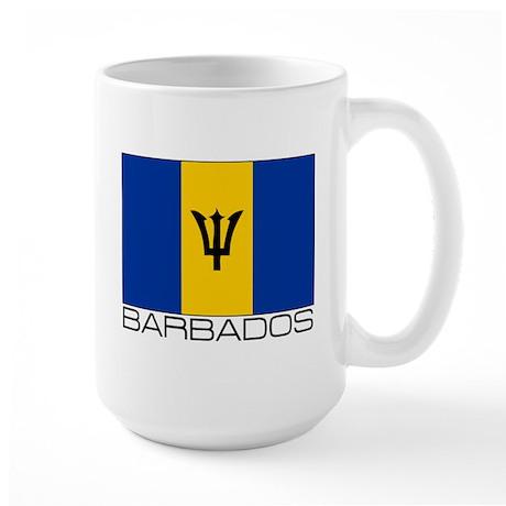 """""""Barbados Flag"""" Large Mug"""