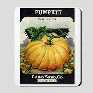 Pumpkin antique seed packet Mousepad