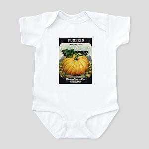 Pumpkin antique seed packet Infant Bodysuit