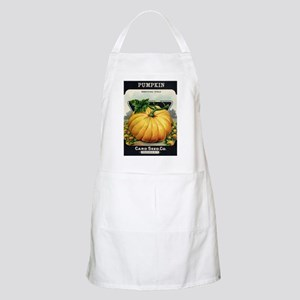 Pumpkin antique seed packet Apron