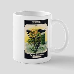 Dill Herbs antique seed packe Mug