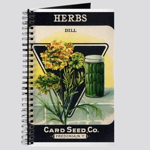 Dill Herbs antique seed packe Journal