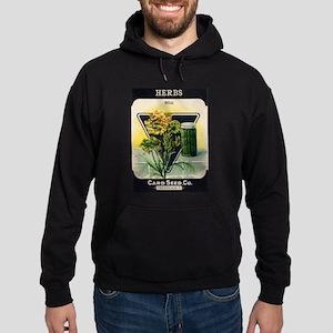 Dill Herbs antique seed packe Hoodie (dark)