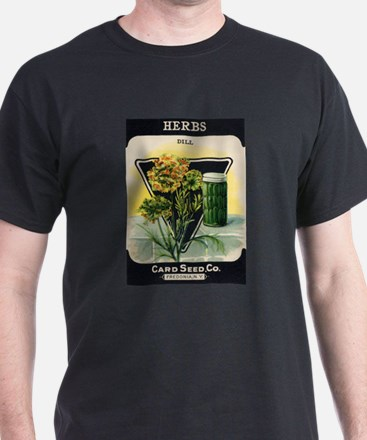 Dill Herbs antique seed packe T-Shirt