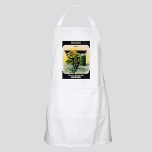 Dill Herbs antique seed packe Apron