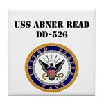 USS ABNER READ Tile Coaster