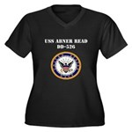 USS ABNER READ Women's Plus Size V-Neck Dark T-Shi