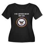 USS ABNER READ Women's Plus Size Scoop Neck Dark T