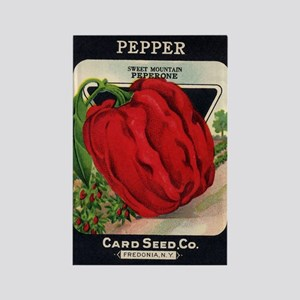 Red Bell Pepper antique seed Rectangle Magnet
