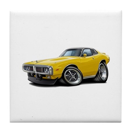Charger Yellow Opera Top Tile Coaster