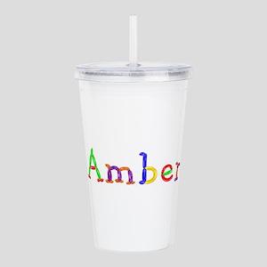 Amber Balloons Acrylic Double-wall Tumbler