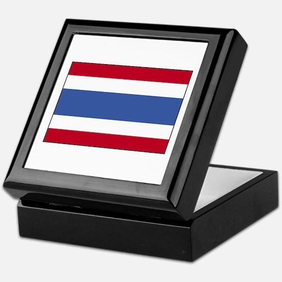Flag of Thailand 4 Keepsake Box