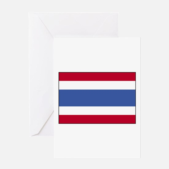Flag of Thailand 4 Greeting Card