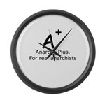 Anarchy Plus Large Wall Clock