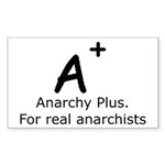 Anarchy Plus Sticker (Rectangle 10 pk)