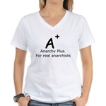 Anarchy Plus Women's V-Neck T-Shirt