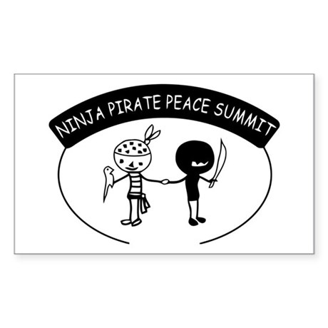 Ninja Pirate Peace Summit Sticker (Rectangle)