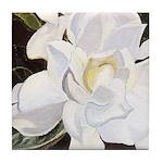 White Gardenia Tile Coaster