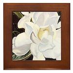 White Gardenia Framed Tile